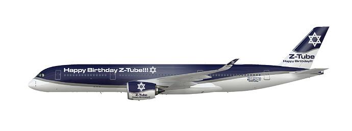 EL AL Virtual A350-900 (Z-Tube Birthday)