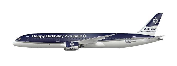 EL AL Virtual 787-9 (Z-Tube Birthday)